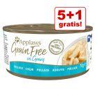 5 + 1 gratis! Applaws Grainfree w sosie i bulionie, 6 x 70 g