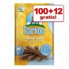 100 + 12 gratis! Barkoo Dental Snacks, 112 szt.