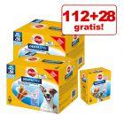 112 + 28 gratis! 140 bucăți Pedigree Dentastix Snackuri câini