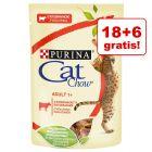 18 + 6 gratis! Cat Chow, 24 x 85 g