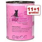 11 + 1 gratis! catz finefood conserve, 12 x 400 g