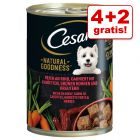 4 + 2 gratis! Cesar Natural Goodness Hondenvoer