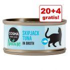 20 + 4 gratis! Cosma Nature, 24 x 70 g