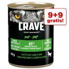 9 + 9 gratis! Crave Adult karma mokra dla psa, 18 x 400 g