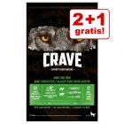 2 + 1 gratis! Crave droogvoer voor honden
