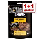 1+1 gratis! Crave Protein Chew Hondensnacks
