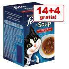 14 + 4 gratis! Felix Soup 18 x 48 g. Doar 1 leu / pliculeț