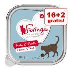 16 + 2 gratis! Feringa Classic Meat Menu Tăvițe 18 x 100 g