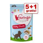 5 + 1 gratis! Feringa Kitten Milky Snacks 6 x 30 g