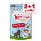 2 + 1 gratis! Feringa Kitten Milky Snacks 3 x 30 g