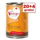 20 + 4 gratis! Feringa Pure Meat Menu, 24 x 410 g