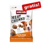 GRATIS! 30 g Animonda Meat Chunks Small Curcan snack pentru câini