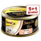 5 + 1 gratis! GimCat ShinyCat, w bulionie, 6 x 70 g
