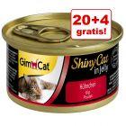 20 + 4 gratis! GimCat ShinyCat w galarecie, 24 x 70 g