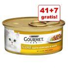 41 + 7 gratis! Gourmet Gold Bucățele în Sos, 48 x 85 g