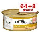 64 + 8 gratis! Gourmet Gold Mousse, 72 x 85 g