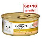 62 + 10 gratis! Gourmet Gold Mus, 72 x 85 g