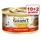 10 + 2 gratis! Gourmet Gold Ragout, 12 x 85 g