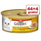 44 + 4 gratis! Gourmet Gold z nadzieniem, 48 x 85 g