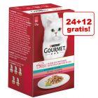 24 + 12 gratis! Gourmet Mon Petit, 36 x 50 g
