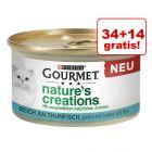 34 + 14 gratis! Gourmet Nature's Creation, 48 x 85 g