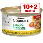 10 + 2 gratis! Gourmet Nature's Creations 12 x 85 g