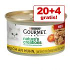 20 + 4 gratis! Gourmet Nature's Creations 24 x 85 g
