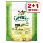 2 + 1 gratis! Greenies Snackuri dentare de ros  3 x 85 / 170 / 340 g