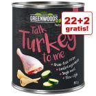 22 + 2 gratis! Greenwoods Adult, 24 x 800 g