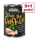 5 + 1 gratis! Greenwoods 6 x 400 g