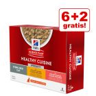 6 + 2 gratis! Hill's Science Plan Healthy Cuisine, 8 x 80 g