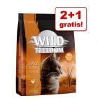 2 + 1 gratis! Karma dla kota Wild Freedom, 3 x 400 g!