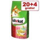 20 + 4 gratis! 24 kg Kitekat Adult hrană uscată pisici