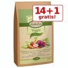 14 + 1 gratis! 15 kg Lukullus Veggie (presată la rece)