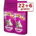 22 + 6 gratis! 28 kg Whiskas Hrană uscată pisici