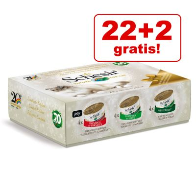 22 + 2 gratis! 24 lattine Schesir Mix Natalizio
