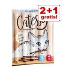 2 + 1 gratis! Mešano poskusno pakiranje Catessy palčke 30 x 5 g