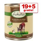19 + 5 gratis! Megapakiet Lukullus Natural, 24 x 800 g