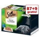 87 + 9 gratis! Megapakiet Sheba tacki, 96 x 85 g