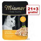 21 + 3 gratis! Miamor Feine Filets w saszetkach, 24 x 100 g