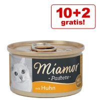 10 + 2 gratis! Miamor Pastete, 12 x 85 g