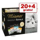 20 + 4 gratis! Mieszany megapakiet Miamor Ragout Royale, 24 x 100 g