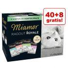 40 + 8 gratis! Mieszany megapakiet Miamor Ragout Royale, 48 x 100 g