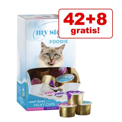 42 + 8 gratis! My Star Milky Cups Mixpack 50 x 15 g