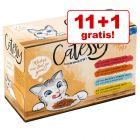 11 + 1 gratis! Pachet mixt Catessy Bucățele în gelatină legume-ouă 12 x 100 g