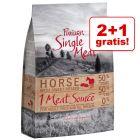 2 + 1 gratis! Purizon Single Meat hrană uscată câini, 3 x 1 kg