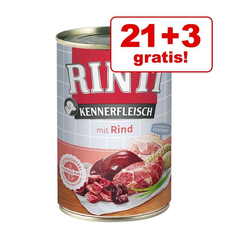 21 + 3 gratis! Rinti Kennerfleisch 24 x 400 g