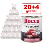 20 + 4 gratis! Rocco Classic Trio di Carne edycja specjalna, 24 x 800 g