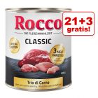 21 + 3 gratis! Rocco Classic Trio di Carne edycja specjalna, 24 x 800 g