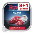 8+1 gratis! Rocco Classic Tăvițe 9 x 300 g